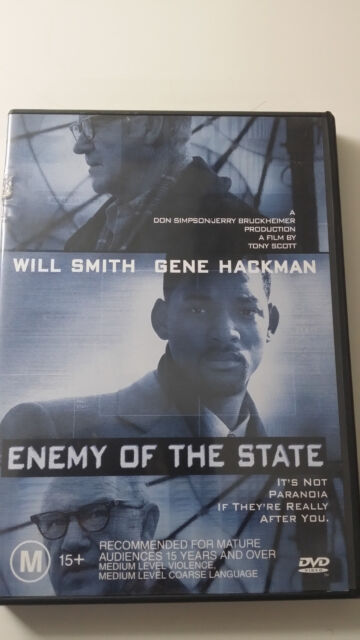 Enemy Of The State (1998) Will Smith Gene Hackman Spy Thriller R4 DVD