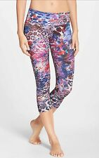 NWT Onzie Yoga Workout Swim Rainforest Printed Capri  Size XS Run Spin