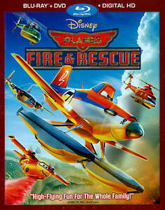Disney-Planes-Fire-Rescue-Blu-ray-DVD-2014-2-Disc-Set-NEW-Free-Shipping
