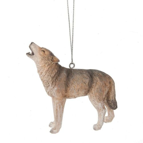 GREY WOLF Howling Christmas Ornament by Midwest CBK