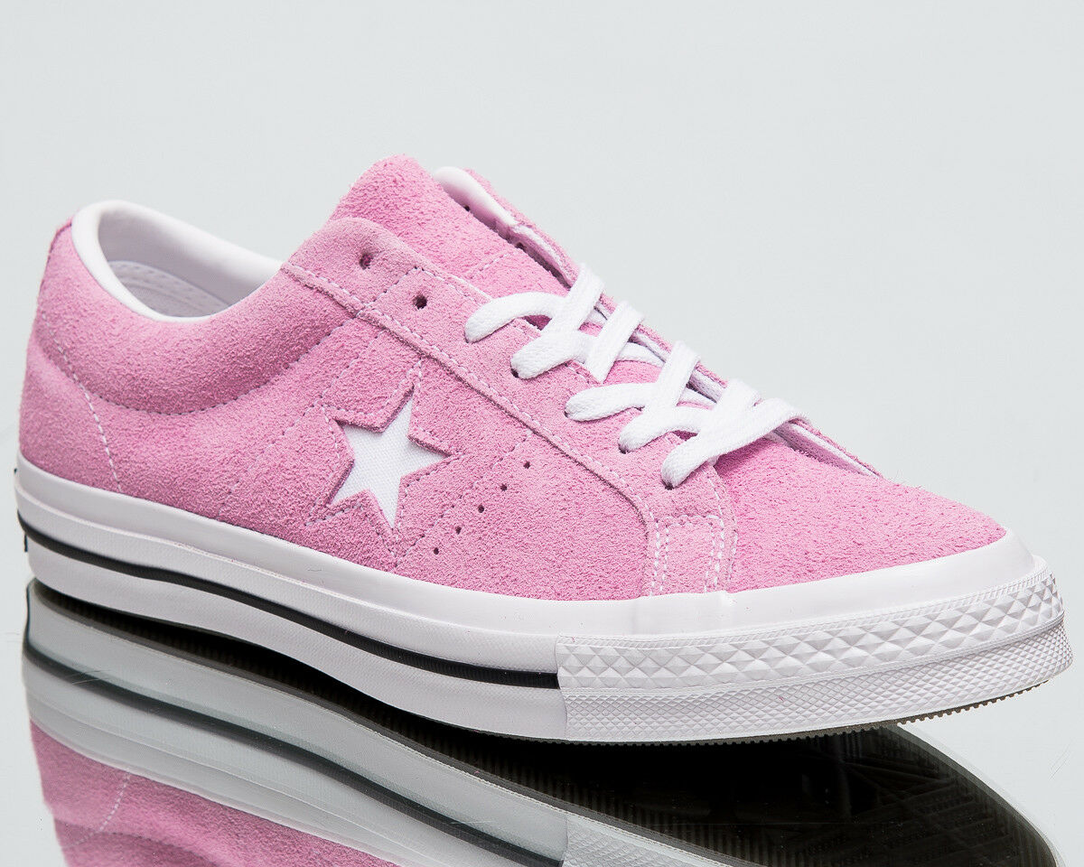 Converse One Star OX mens pink white black lifestyle shoes 159492C