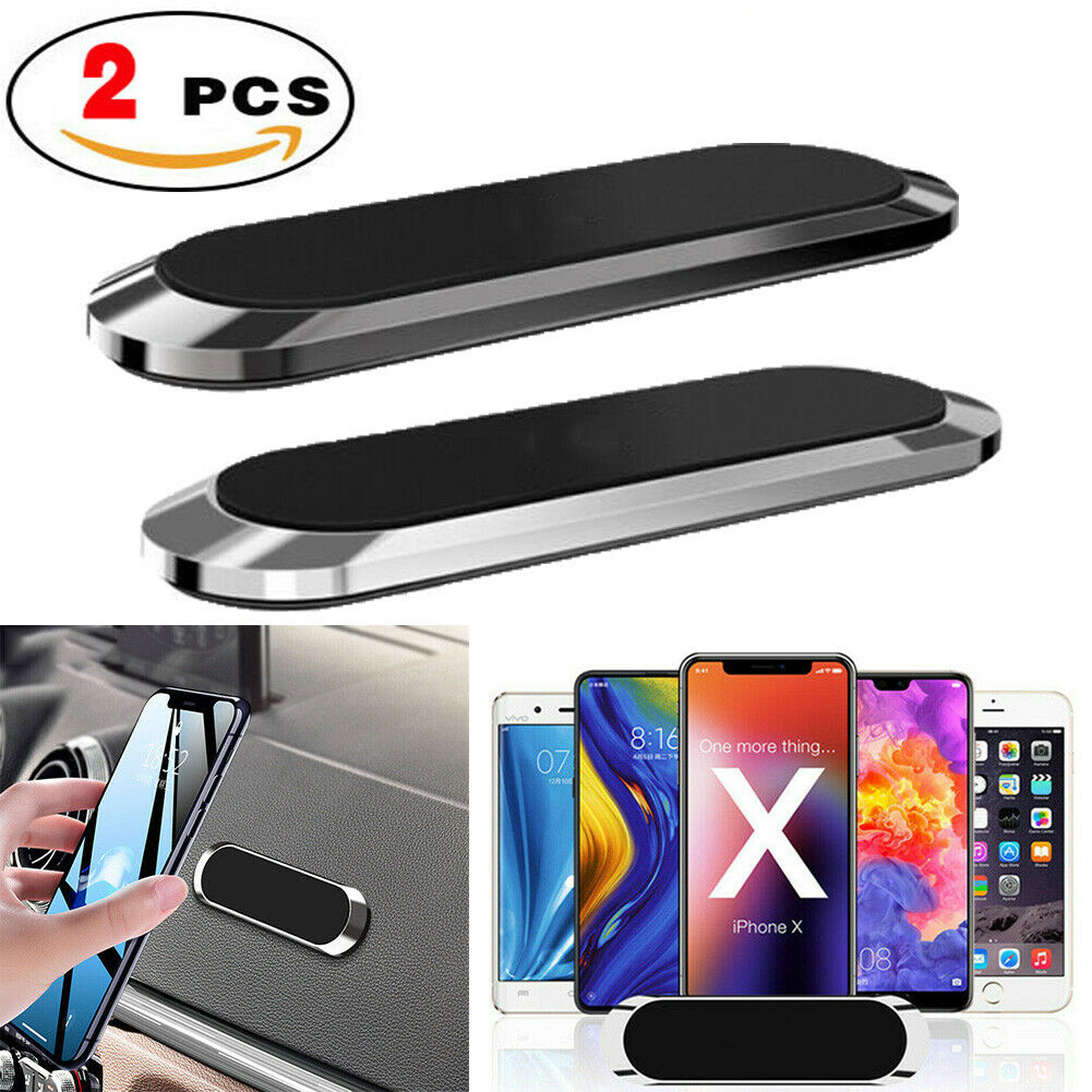 2 PCS Strip Shape Magnetic Car Phone Holder Stand For iPhone Magnet Mount Holder Cell Phone Accessories