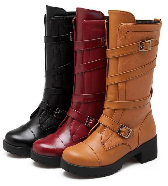 Stiefel braun rot schwarz absatz 5 cm simil leder komfortabel komfortabel komfortabel 9385 top  | Mode-Muster  cafd96