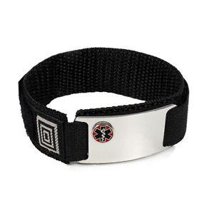 Image Is Loading Custom Engraved Emergency Sport Medical Alert Id Bracelet