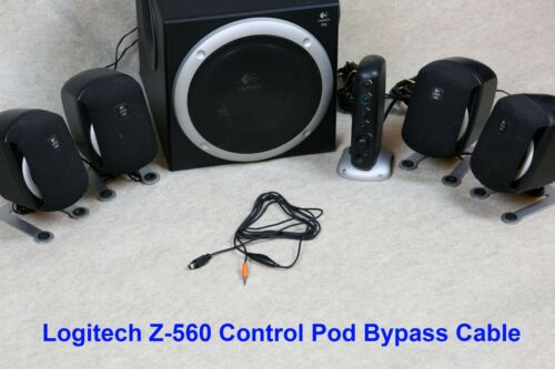 Control Pod Bypass Cable w// volume control for Logitech Z-560 Computer Speakers
