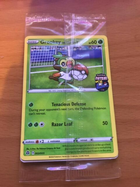 Grookey On The Ball 003/005 - Pokemon FA England Futsal Promo Card|NEW & SEALED
