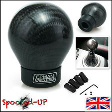 UNIVERSAL CARBON FIBRE WEIGHTED GEAR SHIFT KNOB fits PEUGEOT CITROEN SEAT SUBARU