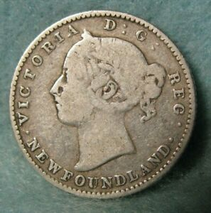 1888 Newfoundland Canada Silver 10 Cents Km 3 Canadian Coin 4253 Ebay