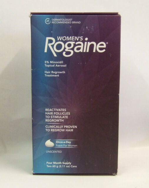 Women's Rogaine 5% Minioxidil Foam( 4 Month Supply) expiry Nov 19