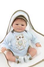 45cm/18'' Handmade Lifelike Baby Silicone Vinyl Reborn Newborn Boy Doll +Clothes