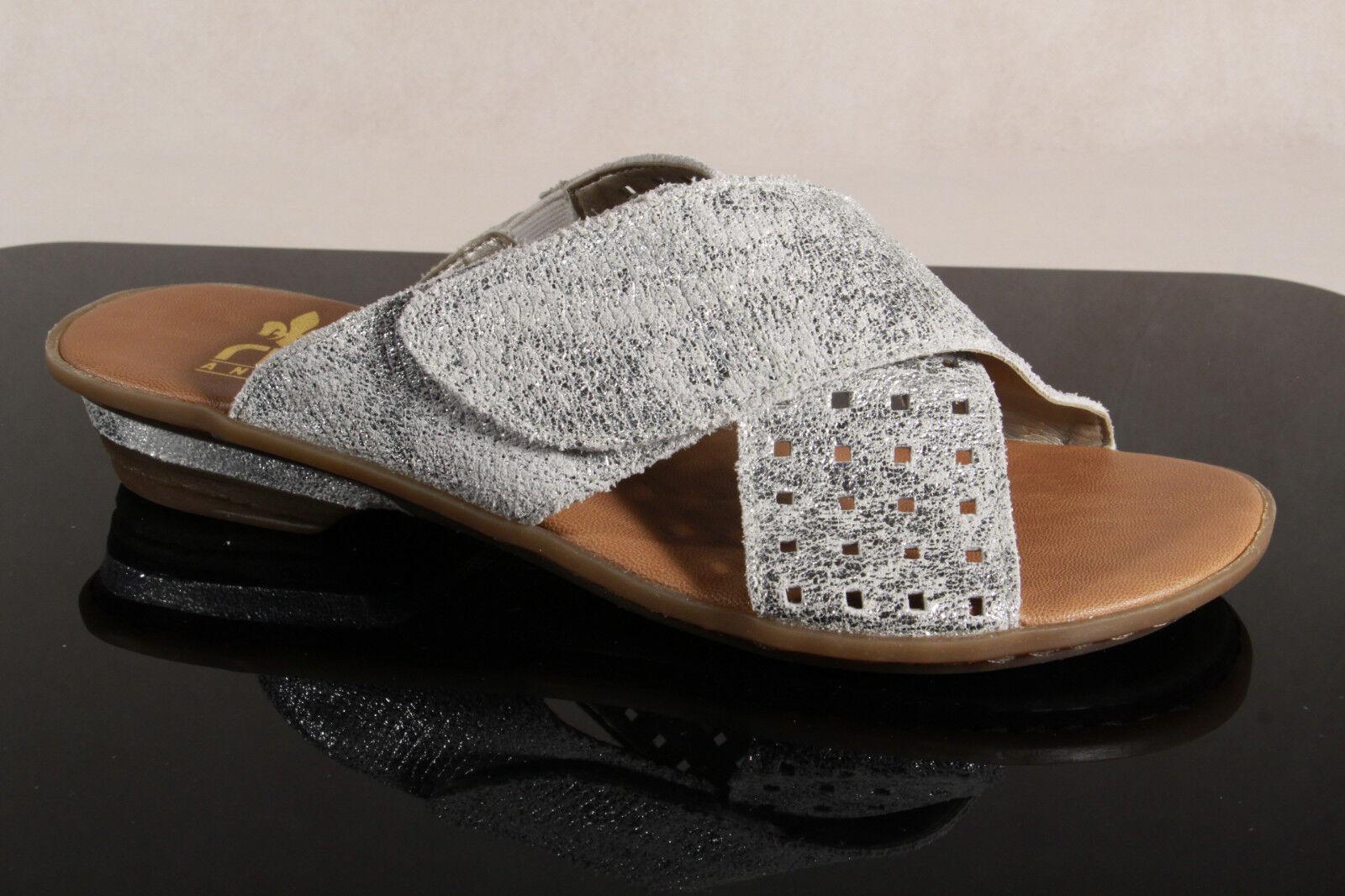 Rieker sandalia, sandalias plata de velcro Echt Leder 63495 nuevo!
