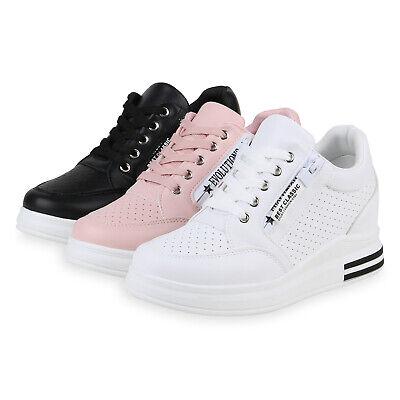 Damen Sneaker Wedges Prints Keilabsatz Turnschuhe Keilsneaker 826546 Trendy