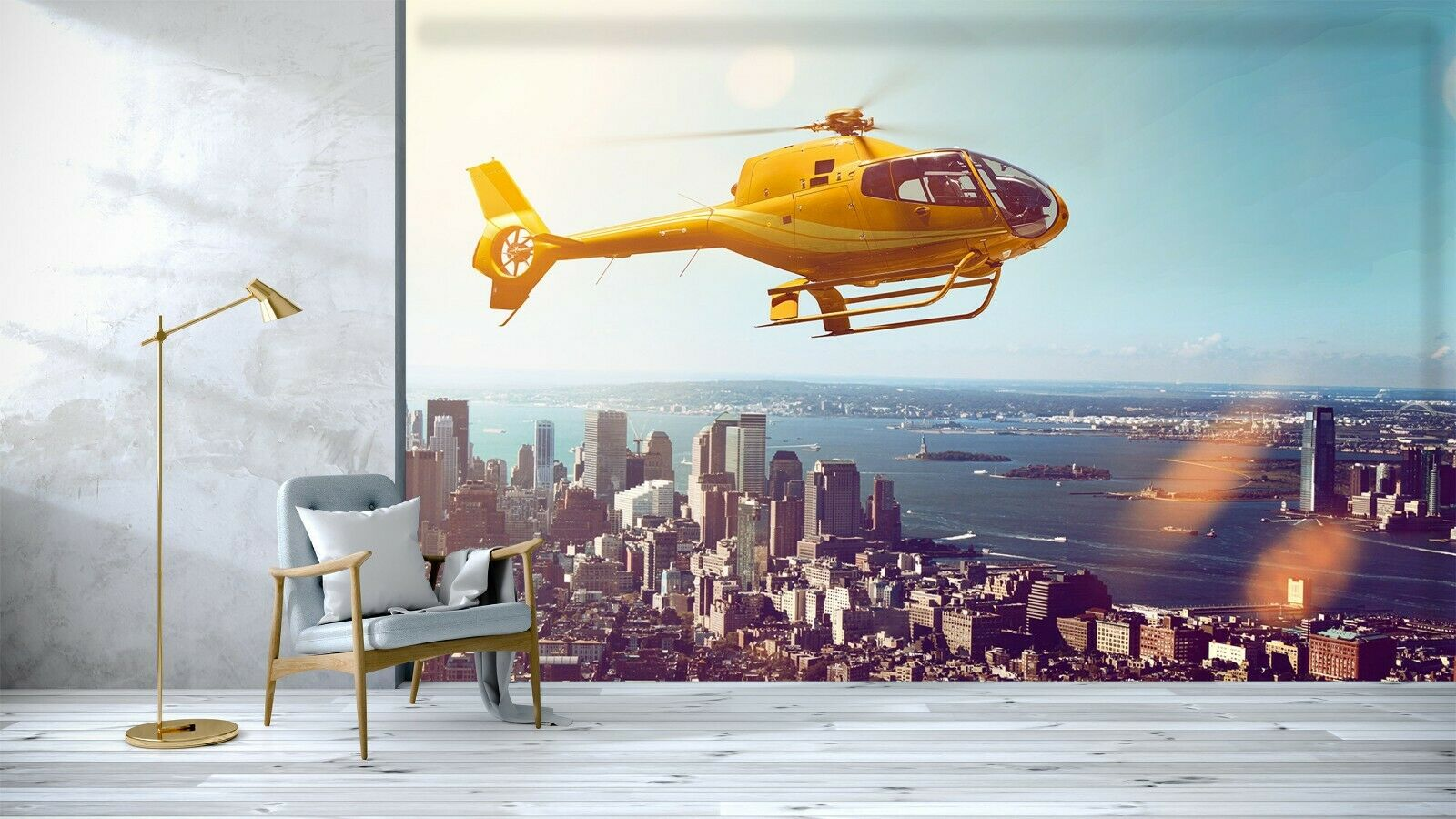 3D Aircraft City B115 Transport Wallpaper Mural Self-adhesive Removable Wendy