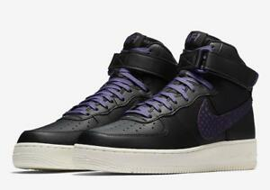 ed0302c04db9d1 NIKE AIR FORCE 1 HIGH  07 LV8 BIG SWOOSH 806403 014 BLACK COURT ...