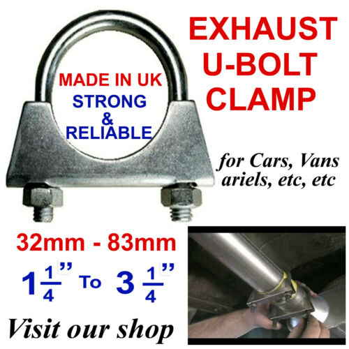 Universal U Bolt Exhaust Clamps Heavy Duty Clamp with Nuts 45mm