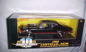 2001-RC-ERTL-AMERICAN-MUSCLE-1968-CHEVELLE-SS-396-SERIALIZED-CHASSiS-1-18-SCALE