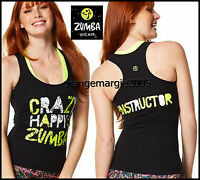 Zumba Instructor Crazy Happy Racerback Top Shirt Tank Tee - Convention Sold Out