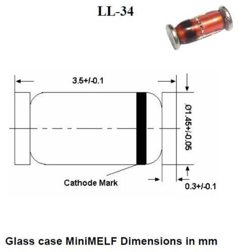 SMD Format SOD80 en bande version CMS Lot de 200 diodes Rapide LL4148