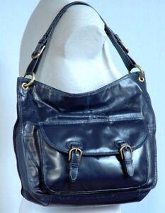 Blue Satchel Vg Soft Bag Large Size Con Leather Scoop Dark Fenland RxtPwIa