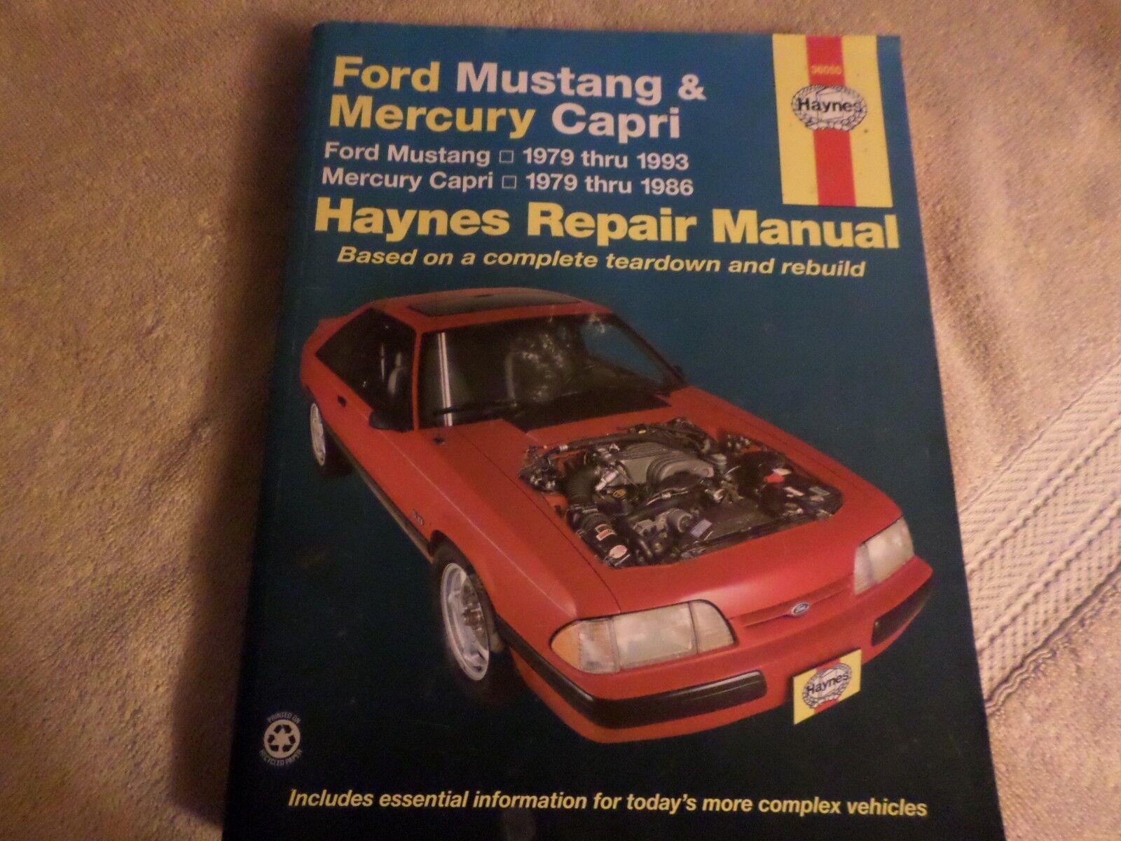 Haynes Repair Manual: Ford Mustang and Mercury Capri, 1979-1993 by John  Haynes (1979, Paperback, Revised) | eBay