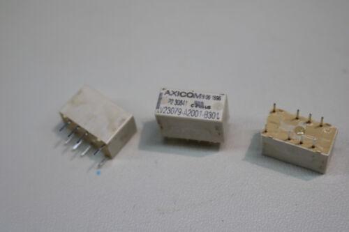 3x Axicom V23079-A2001-B301 Low Signal Relays PCB 2A 5VDC DPDT