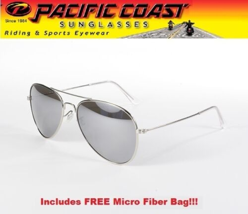 Aviator Sunglasses Aviators Pilot, Silver Mirror Frame Sunglasses