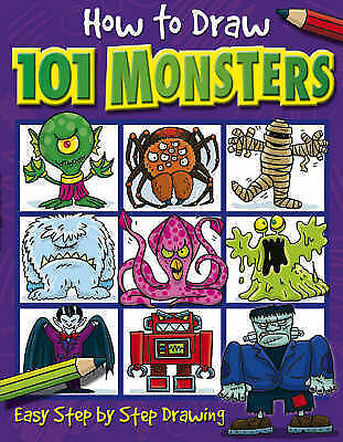 """""""AS NEW"""" How to Draw 101 Monsters, , Book"""