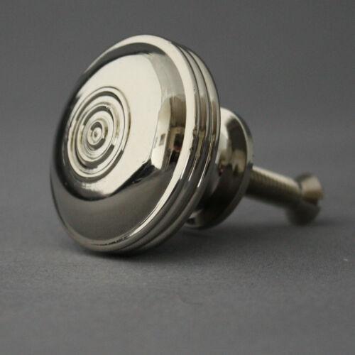 Large Georgian Nickel Bloxwich Cabinet Knob