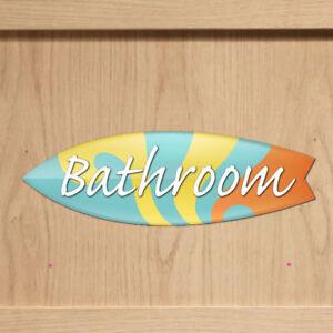 Image Is Loading Acrylic Bathroom Door Sign Surfboard Beach