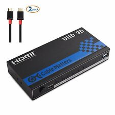 Cable Matters® 4 Port HDMI Splitter with 4K Resolution Support