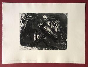 Michael Morgner, 2 uomini sulla spiaggia, 1991, acquaforte, 1992, firmato a mano