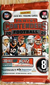 2020 Panini Contenders Football Blaster Pack with Exclusive Sapphire Parallels