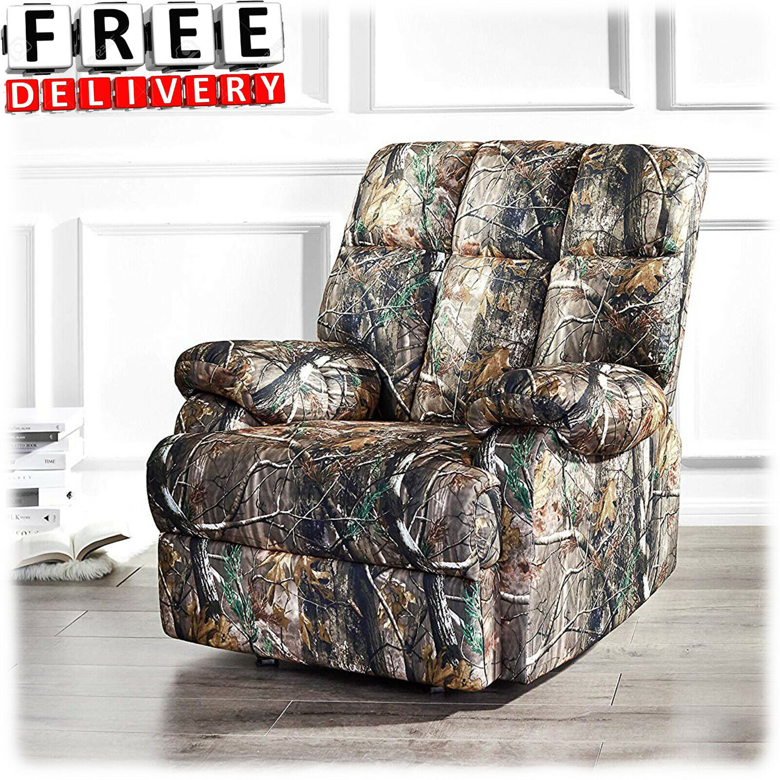 Recliner Rocker Camo Chair Armrest Lounge Lazy Boy Sofa Camouflage Furniture