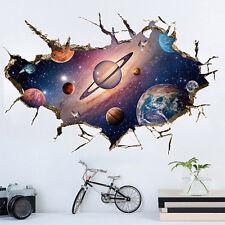 Fantastic 3D Planet Wall Vinyl Art Sticker Mural For Kids Room Ceiling Decor