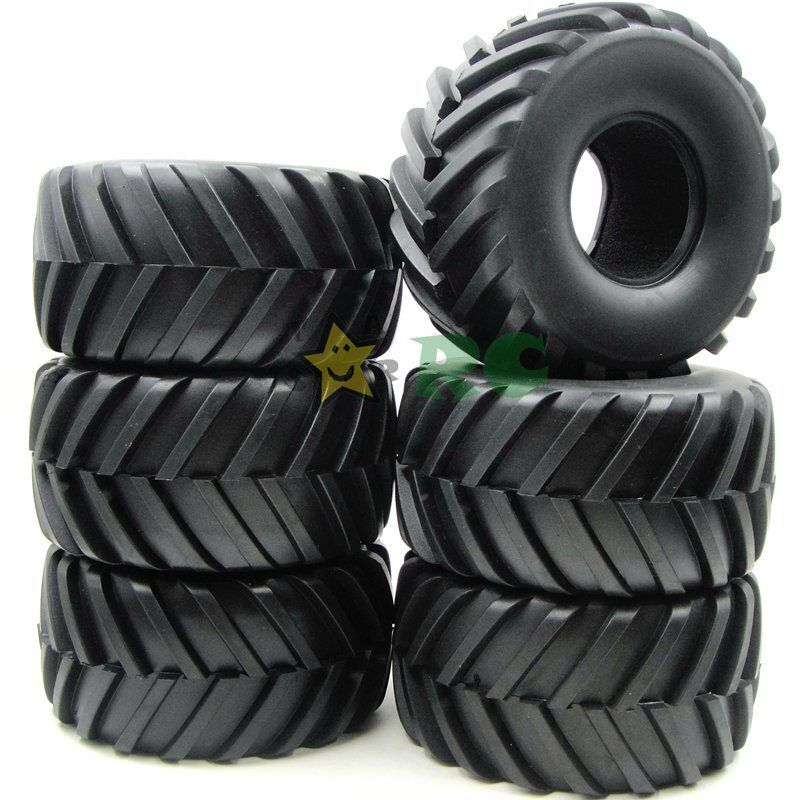 6pcs RC 2.2  Camion Mostro GOMME PNEUMATICI Fit RC 4x4 ASSIALE Crawler & RPM 2.2 RUOTE