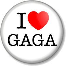 I Love / Heart GAGA 25mm Pin Button Badge Lady Gaga Singer Songwriter Musician