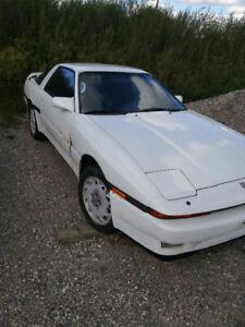 1987 Toyota Supra Red on white