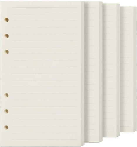 FANDAMEI 4 Packs Ruled Line Paper Refills for Filofax Personal Organiser 180