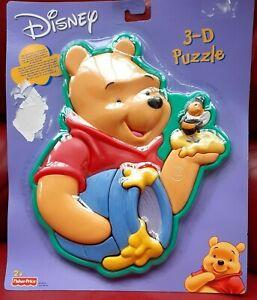 Fisher Price Disney Winnie The Pooh 3D Puzzle 2003 NUOVO E SIGILLATO RARO