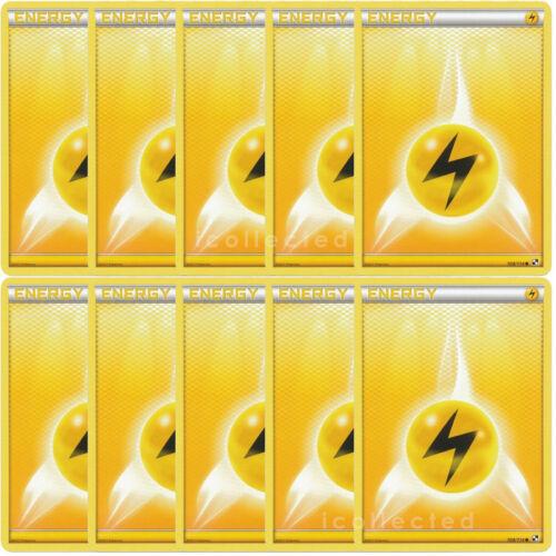 10 Lightning Electric Basic Energy Pokemon Card Bulk Deck BuildingTournament