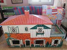 Vintage MARX Toys Litho Tin Metal Doll House