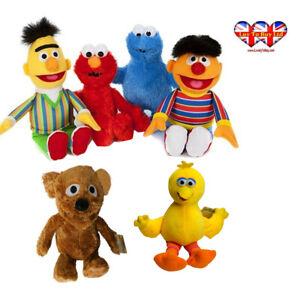 Sesame-Street-Plush-Elmo-Ernie-Bert-Cookie-Monster-Tommie-Official-Licensed