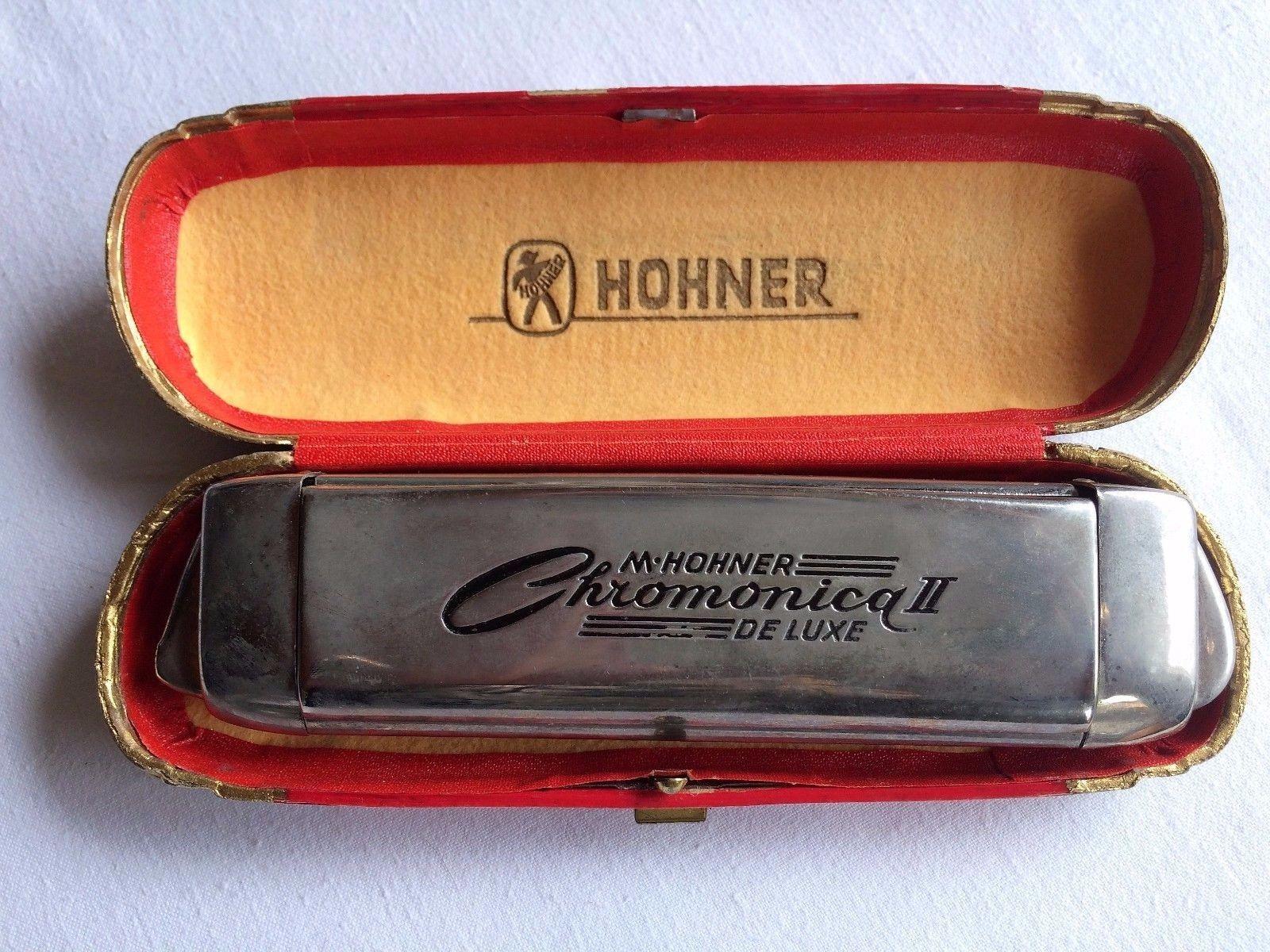 M. Hohner Chromonica 2 de luxe, Dachbodenfund, konvolut, sammeln, rar