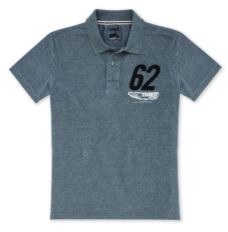 DUCATI Scrambler MOJAVE kurzarm Polo T-Shirt Retro grey NEU