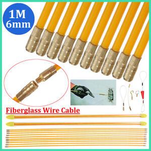 10x1M-6mm-Fibre-de-verre-Extracteurs-de-cables-Aiguille-Cable-Electricien-Kit
