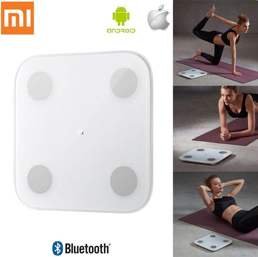 Original Xiaomi Smart Scale 2 Weiß Glass Blautooth Body Weight Mass BMI Scales