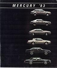 Mercury 1983 USA Market Sales Brochure Lynx LN7 Capri Cougar Marquis Grand