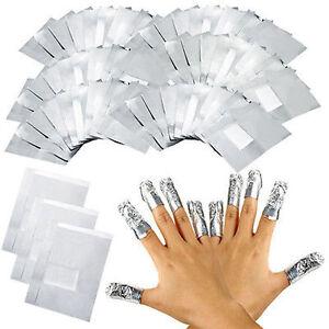 100 Aluminum Foil Nail Art Soak Off Acrylic Gel Decal Polish Nail