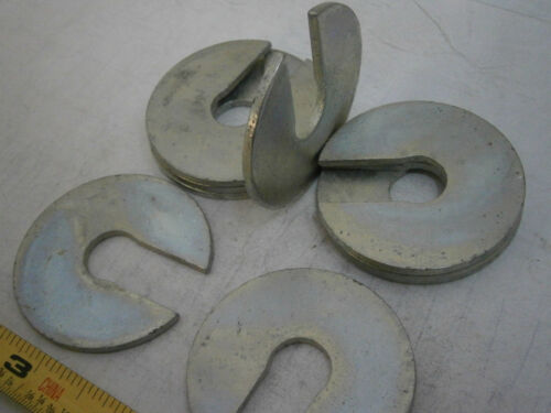 """/""""C/"""" Washers 2.00/"""" OD x .562/"""" ID x .104/"""" Thick Steel Zinc Plated Lot of 3 #4222"""