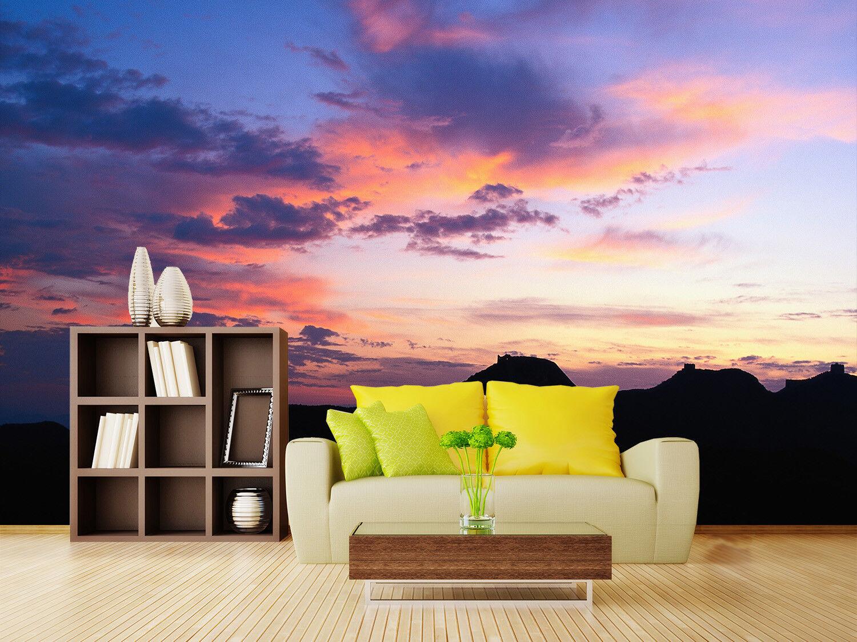 3D Sonnenuntergang  Berge 74 Tapete Wandgemälde Tapete Tapeten Bild Familie DE